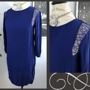 Stunning Blue Lace Shoulder H&M Dress